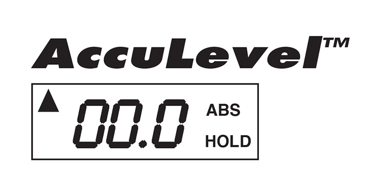 Acculevel version 2 display