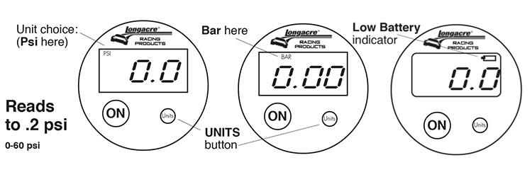 Basic digital tire pressure gauge head