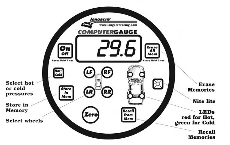 Memory tire pressure gauge