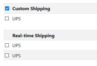 Custom Shipping Screenshot