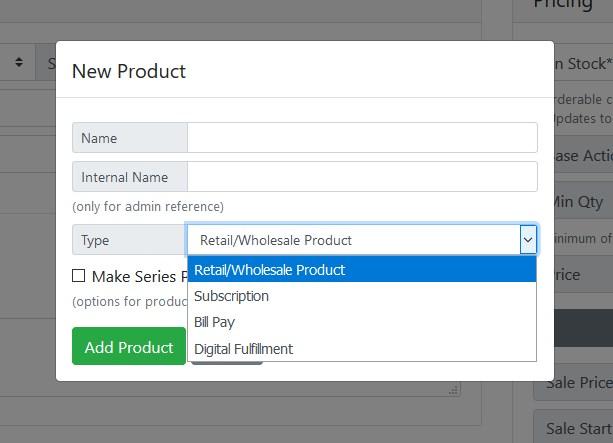 Retail/Wholesale Product Screenshot