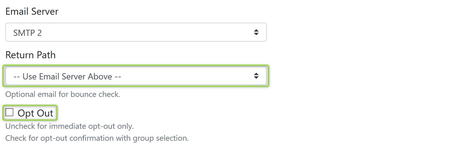 Email Server Screenshot