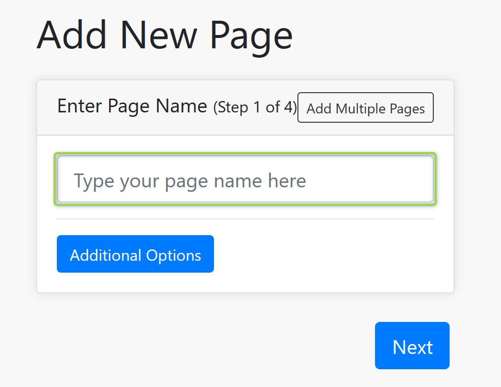 Page Name Screenshot