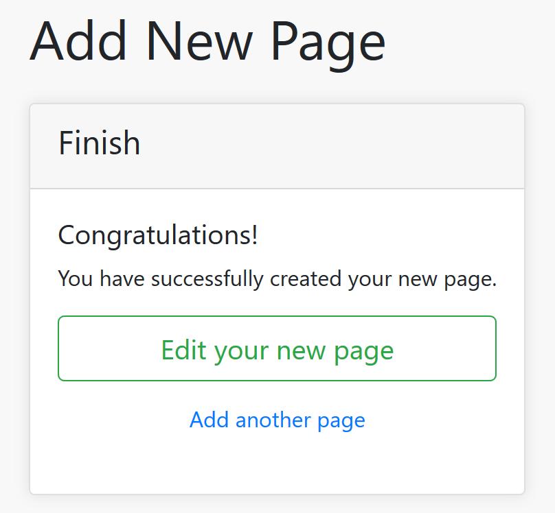 Edit New Page Screenshot