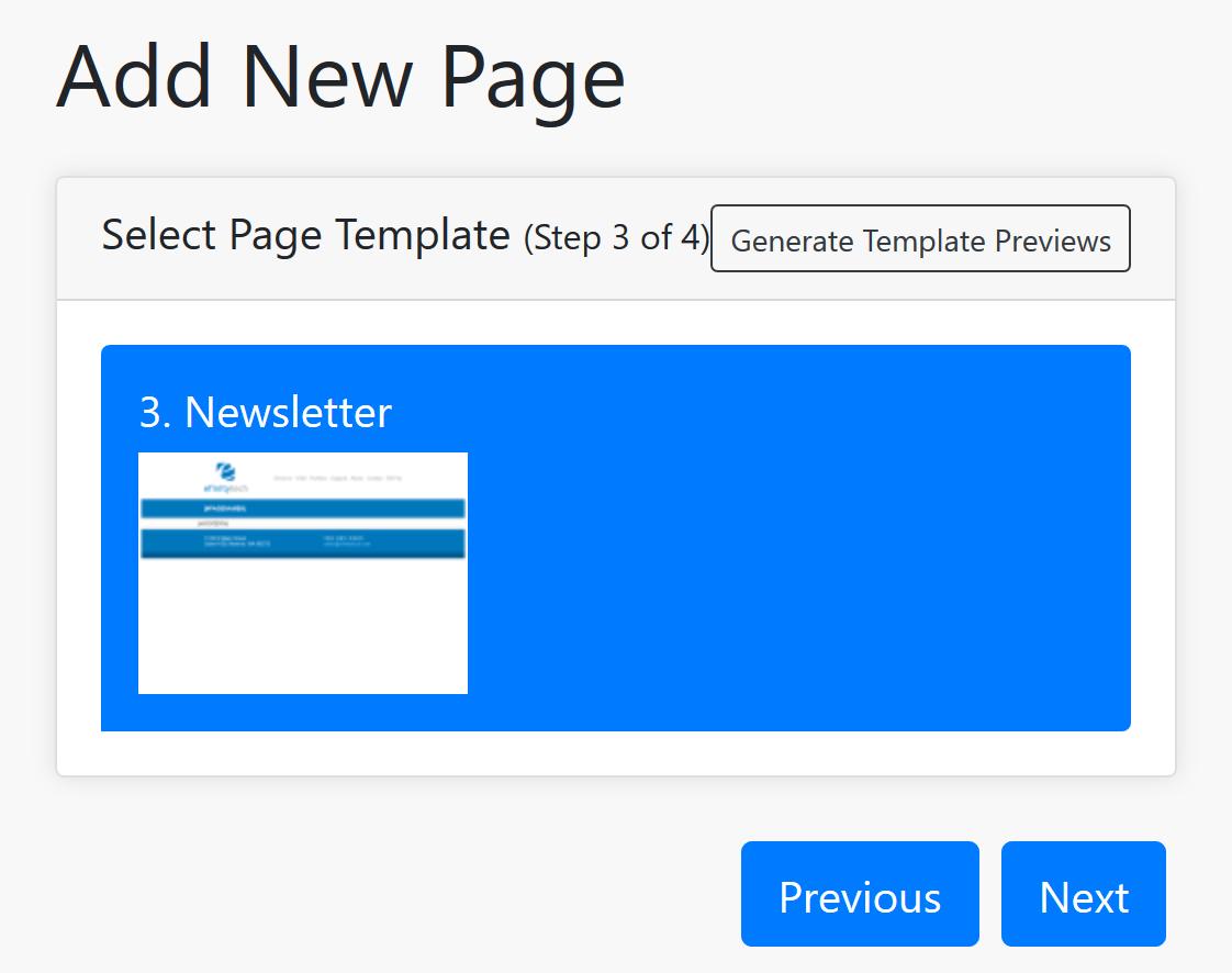 Page Template Screenshot
