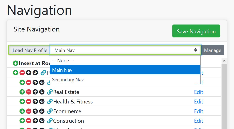 Navigation Profile Search Screenshot
