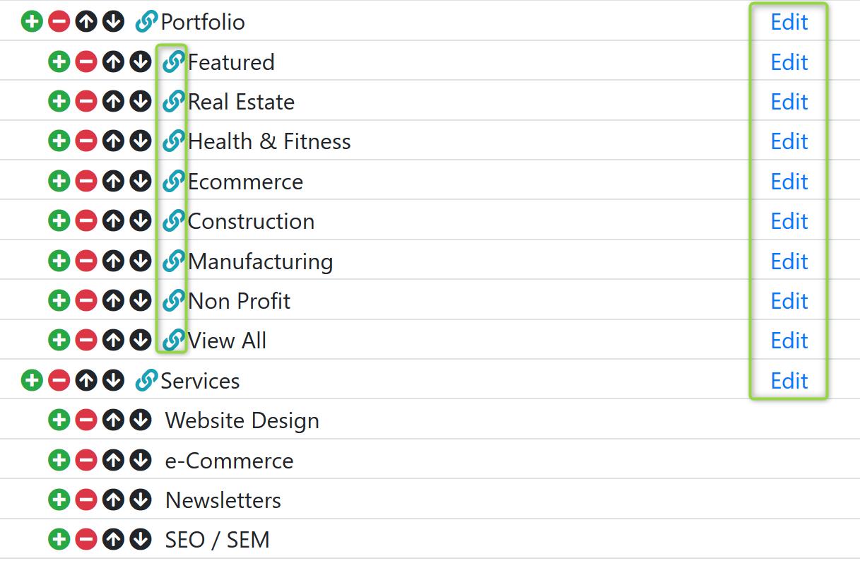 Custom Link Profile Screenshot