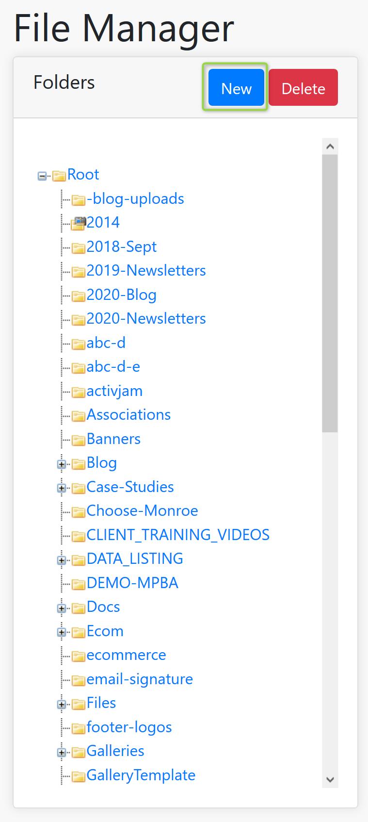 New Folder Screenshot
