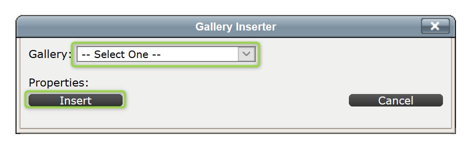 Gallery Inserter Screenshot