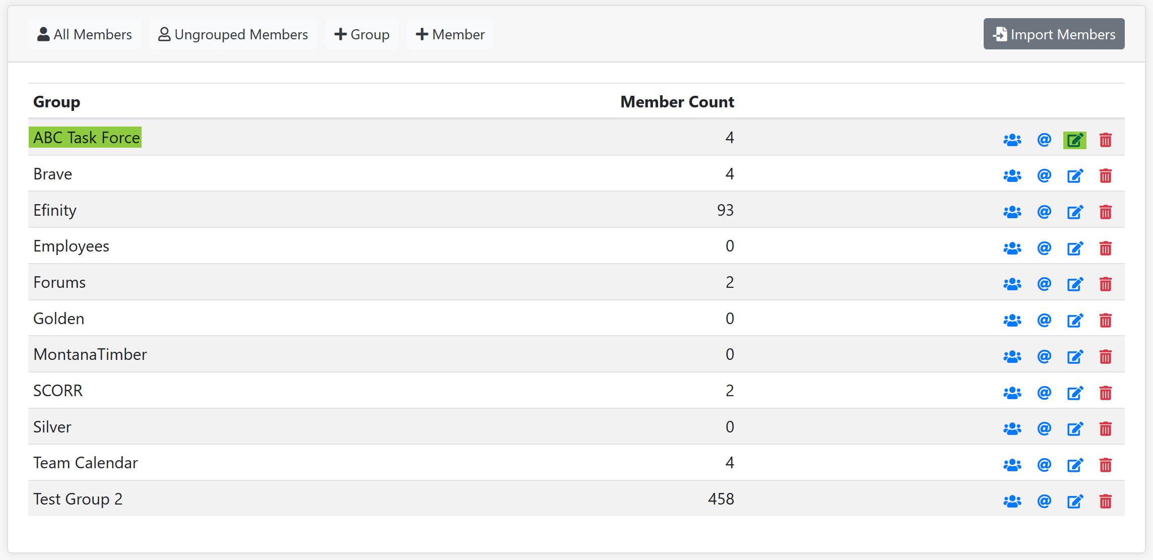 Group Manager Screenshot