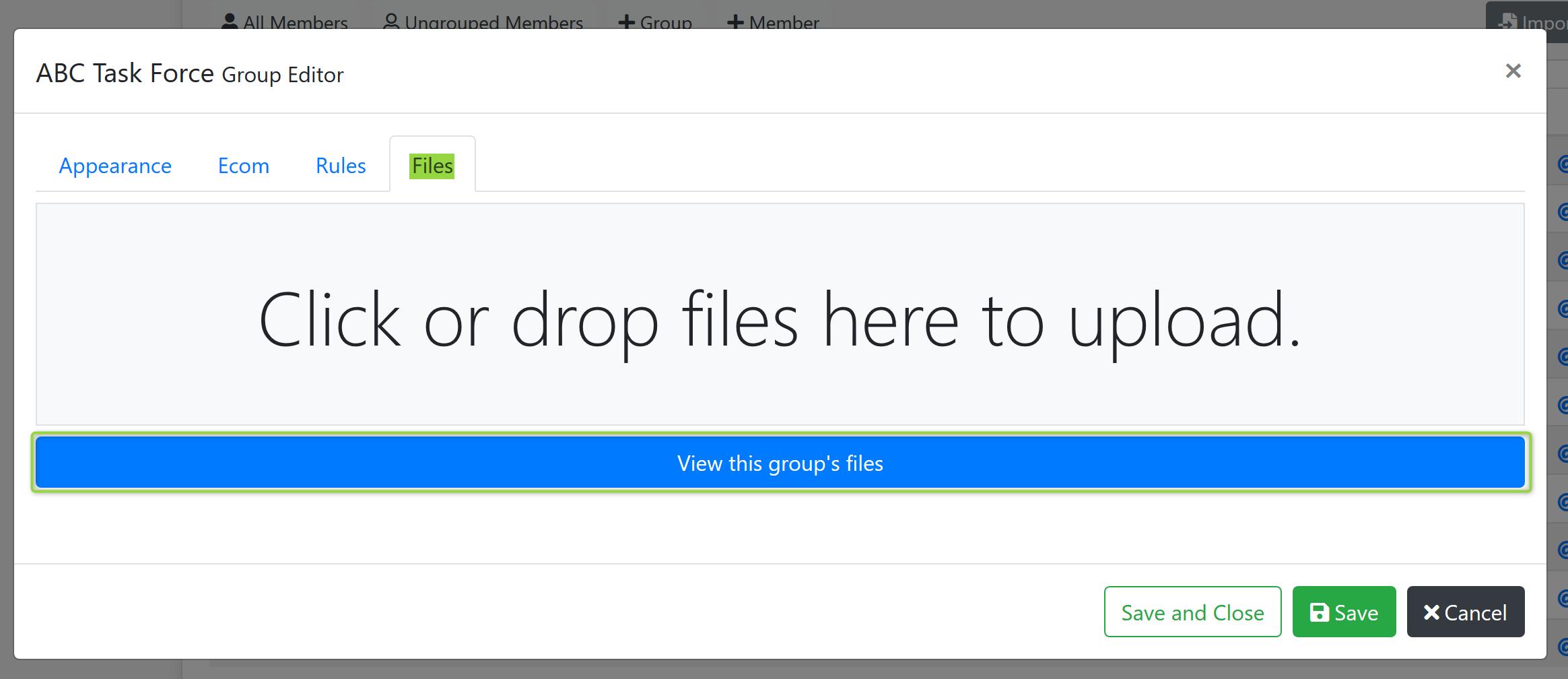 Group Editor Files Screenshot