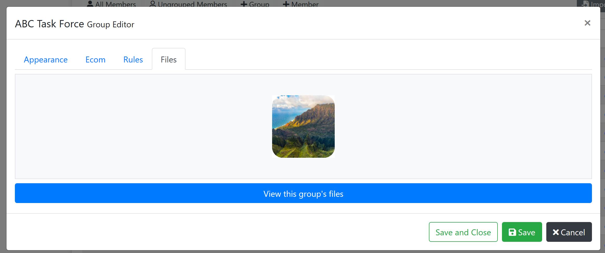 Group Files Screenshot