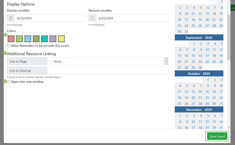 Display Options Screenshot