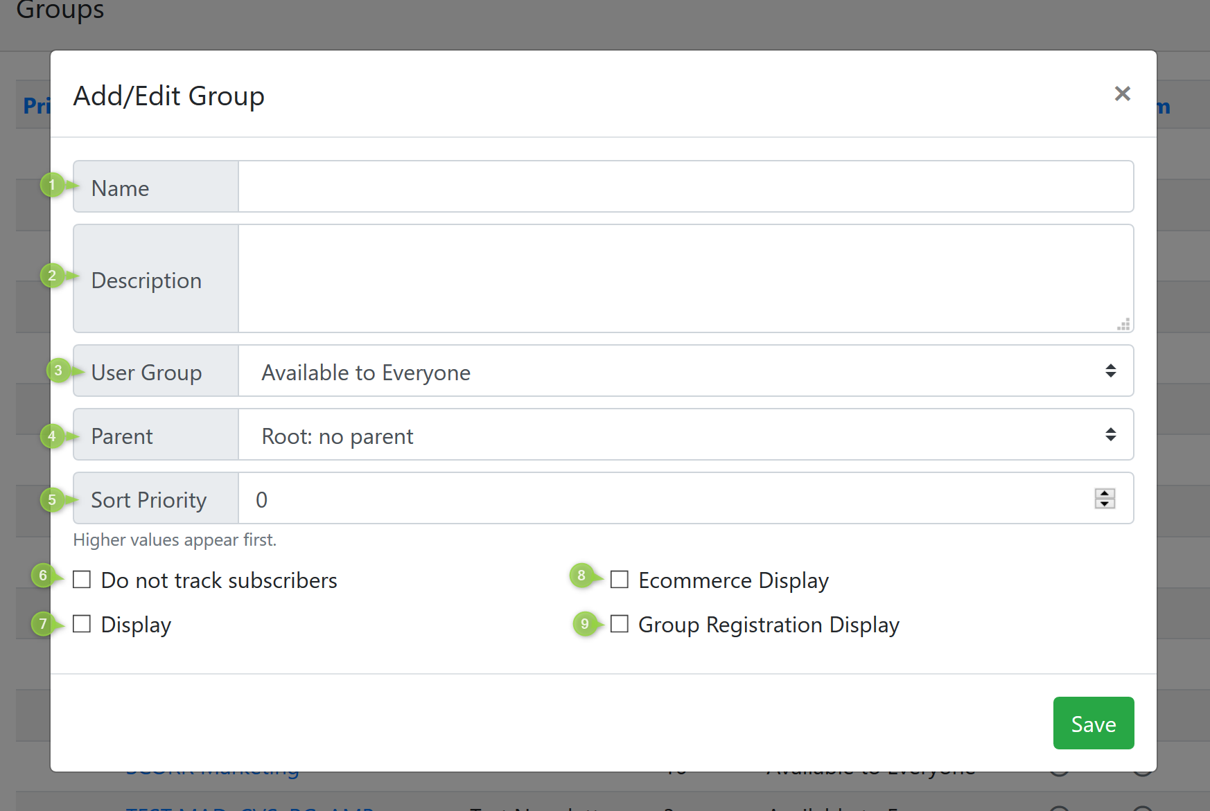 Edit Group Screenshot
